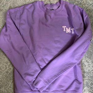 Purple The Morning Toast TMT crew neck